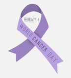 World Cancer Day poster. Flat design. Royalty Free Stock Photo