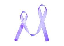 World Cancer Day purple ribbon Stock Photos