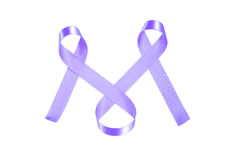 World Cancer Day purple ribbon Royalty Free Stock Photo