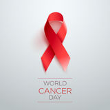 World Cancer Day Ribbon stock illustration