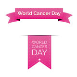 World Cancer Day ribbon Royalty Free Stock Photography