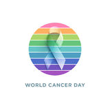 World Cancer Day stock illustration