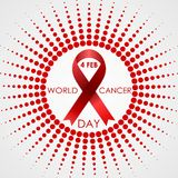 World Cancer Day vector background with halftone Stock Photography