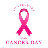 World Cancer Day. Vector illustration in flat style Stock Photography