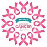World cancer day vector template Stock Photo