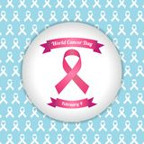 World cancer day vector template Royalty Free Stock Photos