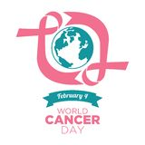 World cancer day vector template Royalty Free Stock Images