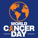 World cancer day vector template Royalty Free Stock Image