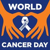 World cancer day vector template Stock Images