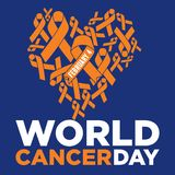 World cancer day vector template Stock Photography