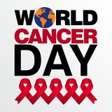 World cancer day vector template Stock Photos