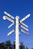 World Capital Cities Signpost,Thailand Royalty Free Stock Photography