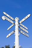World Capital Cities Signpost,Thailand Stock Photo