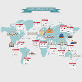 World capitals cities Royalty Free Stock Photos