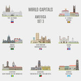 World capitals Royalty Free Stock Photos