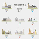World capitals Royalty Free Stock Photography