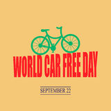 World car free day. Vector illustration stock illustration