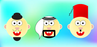 World cartoon Faces Royalty Free Stock Images