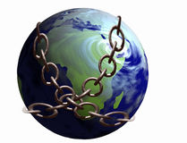 World in Chains stock photo