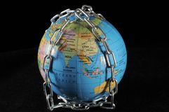 World in chains Royalty Free Stock Images
