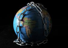 World in chains Royalty Free Stock Photos
