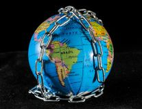 World in chains Royalty Free Stock Photography