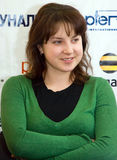 World champion in figure skating Irina Slutskaya Royalty Free Stock Photo