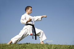 World champion of karate - kata Stock Images