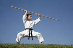 World champion of karate - kata Stock Photo