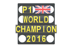 World Champion racing concept, pit board  Royalty Free Stock Photography