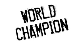 World Champion rubber stamp Stock Image