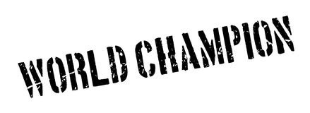 World champion rubber stamp Royalty Free Stock Photo