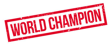 World champion rubber stamp Stock Photos