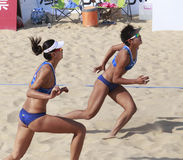 World champion xue chen,chinese beach vollyball player Royalty Free Stock Photo