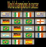 World champions in soccer. History of the FIFA World Cups Stock Images