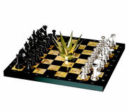World championship chess crown. Chess is located on a chessboard Royalty Free Stock Photo