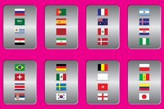 World Championship. Vector flags of the country. 2018 in Russia. World Cup. Information graph of country flags Royalty Free Stock Images