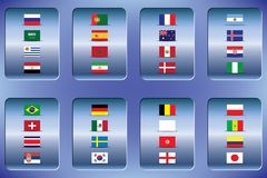 World Championship. Vector flags of the country. 2018 in Russia. World Cup. Information graph of country flags Stock Photo