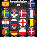 World Championship. Vector flags of the country. 2018 in Russia. World Cup. Information graph of country flags Stock Photography