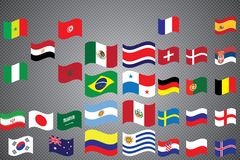 World Championship. Vector flags of the country. 2018 in Russia. World Cup. Information graph of country flags Royalty Free Stock Photography