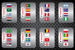 World Championship. Vector flags of the country. 2018 in Russia. World Cup. Information graph of country flags Royalty Free Stock Image