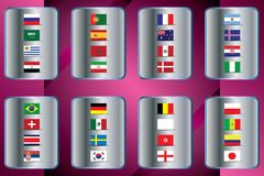 World Championship. Vector flags of the country. 2018 in Russia. World Cup. Information graph of country flags Stock Image