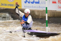 World championship in water slalom Stock Photos