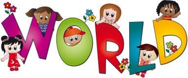 World of children stock image