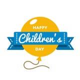 World Childrens day greeting emblem Stock Photos
