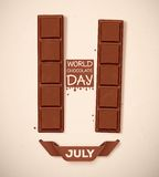 World Chocolate Day. 11 July, eps 10 Stock Photos
