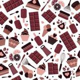World Chocolate Day. July 11. Seamless pattern. Vector illustration. World Chocolate Day of seamless pattern. July 11 vector illustration
