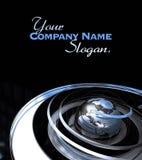World chrome background Stock Image