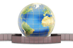 World cinema concept, 3D rendering Royalty Free Stock Photography