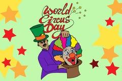 World circus day. Hand drawn  stock illustration Stock Photo